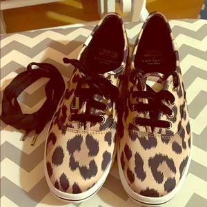 Kate Spade Keds animal print shoe